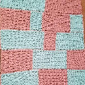 """Crocheted """"Jesus Loves Me"""" Baby Blanket/Afghan"""